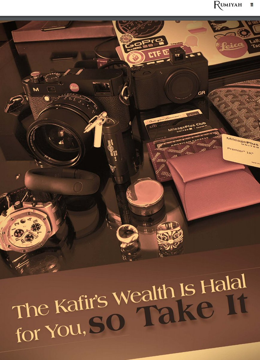 Risultati immagini per the kafir's wealth is halal for you,so take it