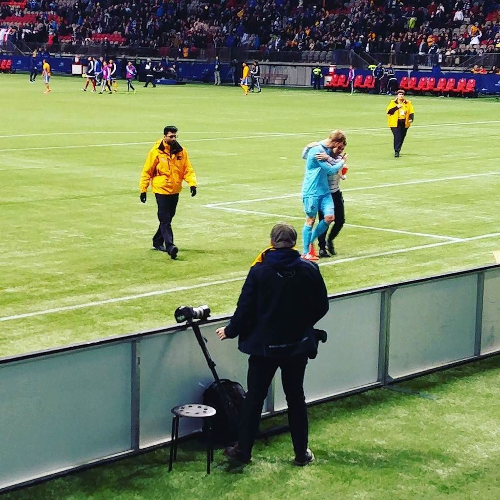 Security does nothing for pitch invader. Ousted goes peacekeeper & escorts him out. #VWFC https://t.co/uIz8uMhb2p