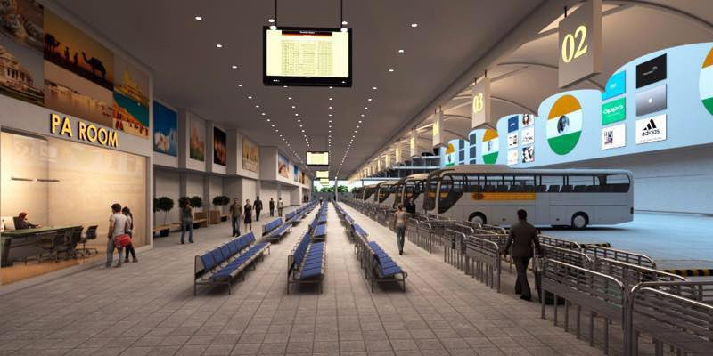 In Pictures New Bus Port Of Rajkot Works For Which Will