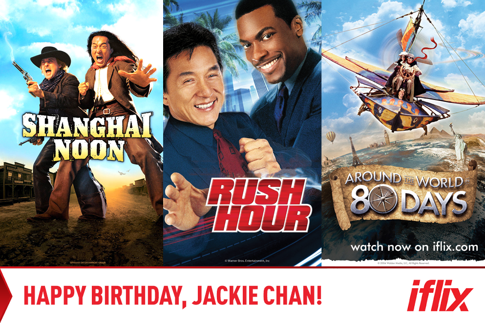 Take it easy on the stunts today, Jackie Chan! Happy Birthday!