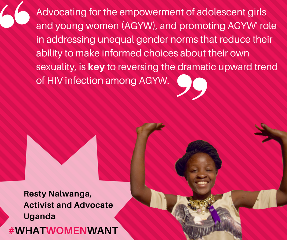 #WhatWomenWant is urgent action to address the #HIV epidemic among women, esp young women, in all their diversity. https://t.co/Je7S3rAeuc https://t.co/G2UBe5TqaP