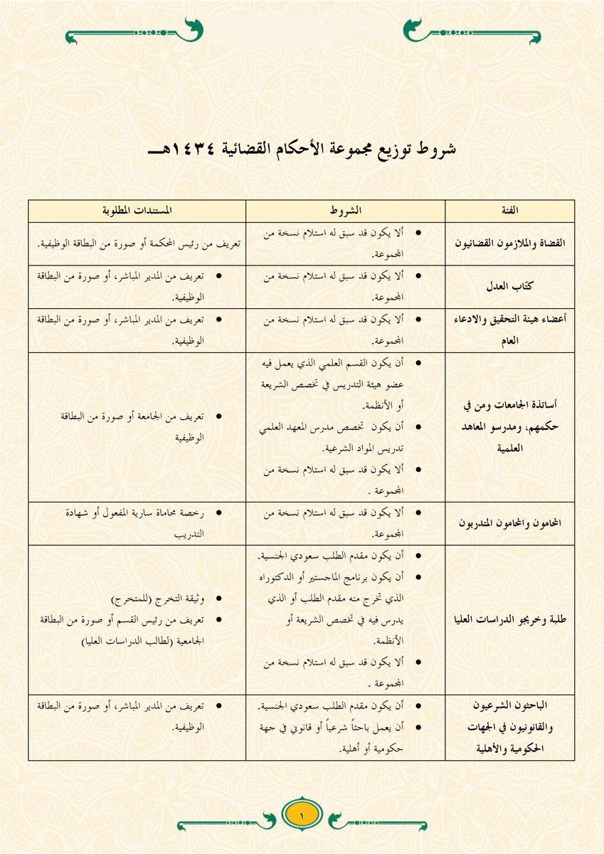 مركز البحوث On Twitter يمكن للمختصين الحصول على نسخة مجانية من مجموعة الأحكام القضائية لعام ١٤٣٤ ٣٠ مجلدا وزارة العدل مركز البحوث