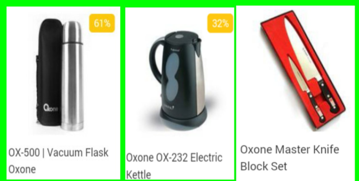 Produk Oxone : OX-500 l Vacuum Flask Oxone, Oxone OX-232 Electric Kettle, Oxone Master Knife Block Set #FollowOxone pic.twitter.com/b7CoiiS5U8