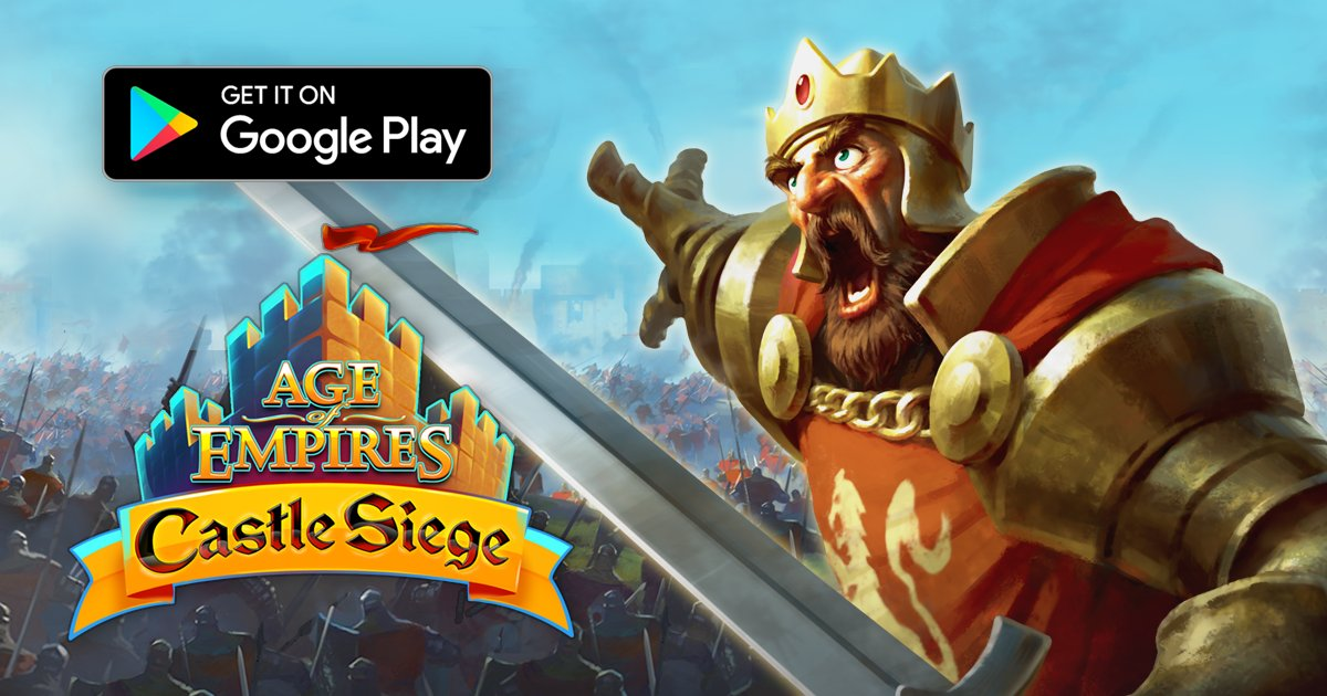 "AoE: Castle Siege on Twitter: ""Age of Empires: Castle Siege is now  available worldwide on the Google Play Store and join the siege today! ..."