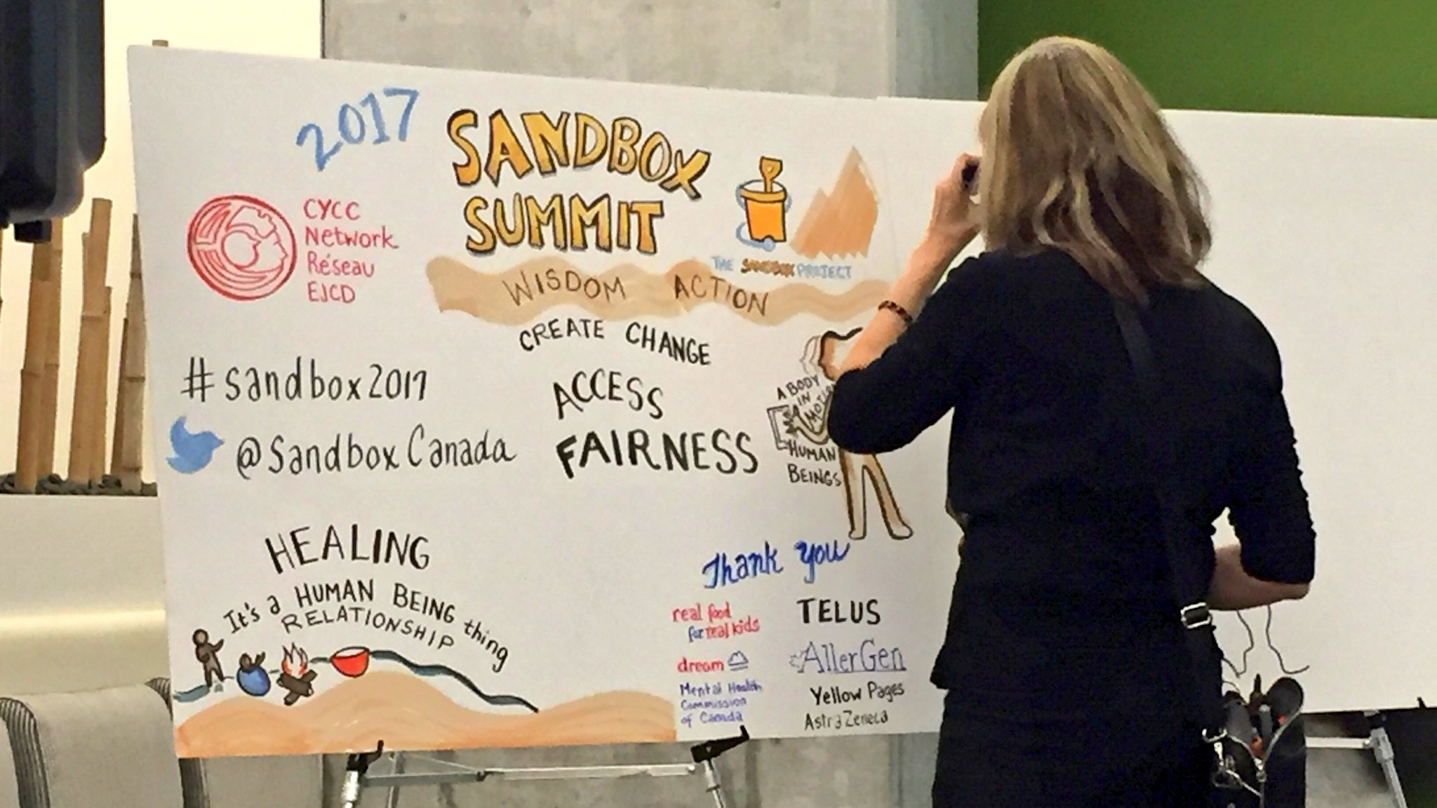 Live illustrator capturing events here at #Sandbox2017 - so cool! https://t.co/4noOsfRC7P