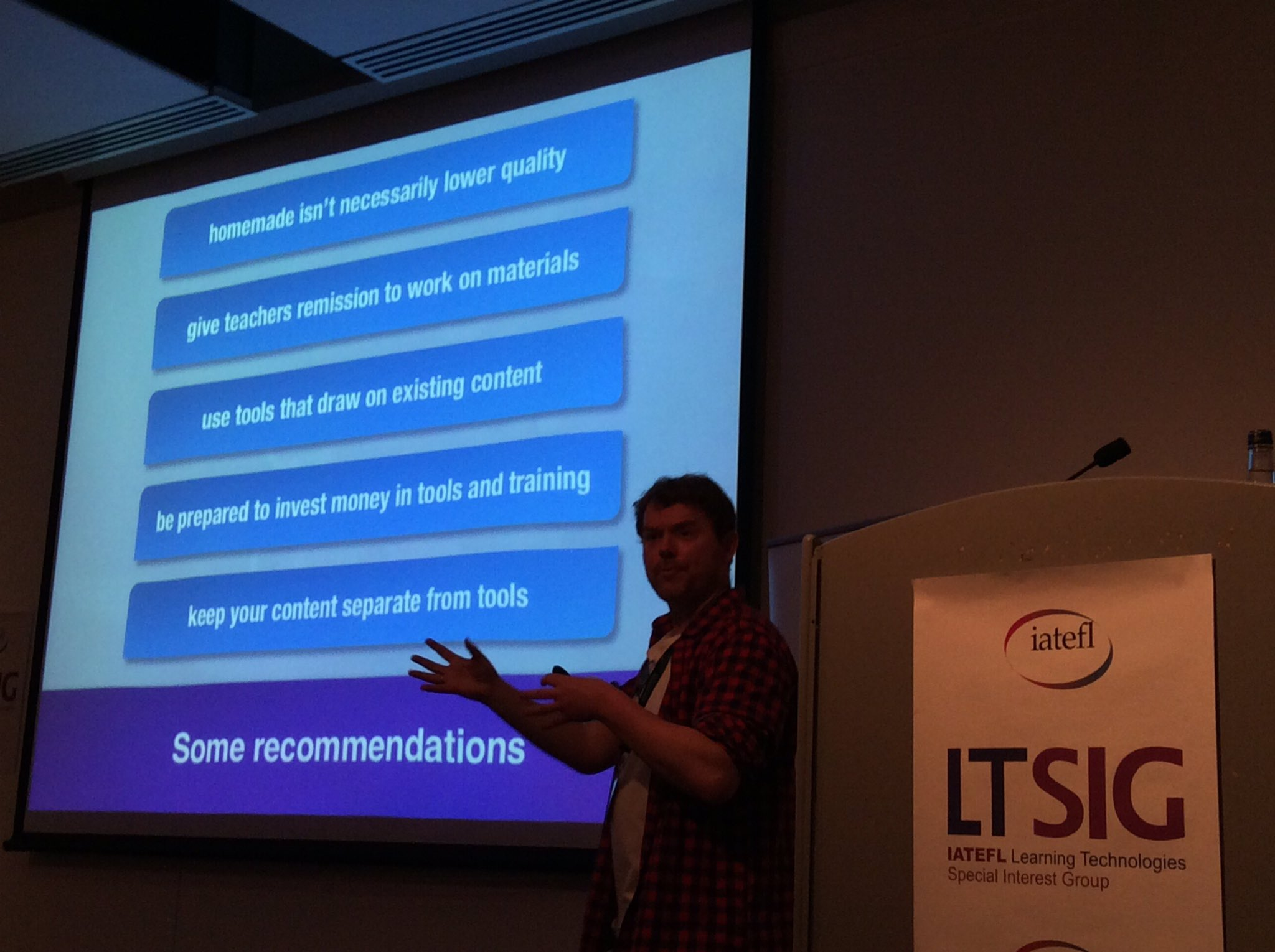 #iatefl17 #ltsig day David Read: some recommendations https://t.co/jemyaSRXS1