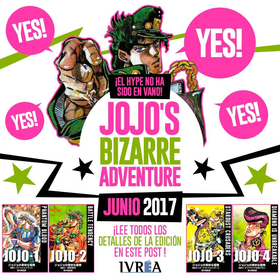 Ivrea adquiere la licencia del manga de JOJO C8uOvIBW0AAXfYn