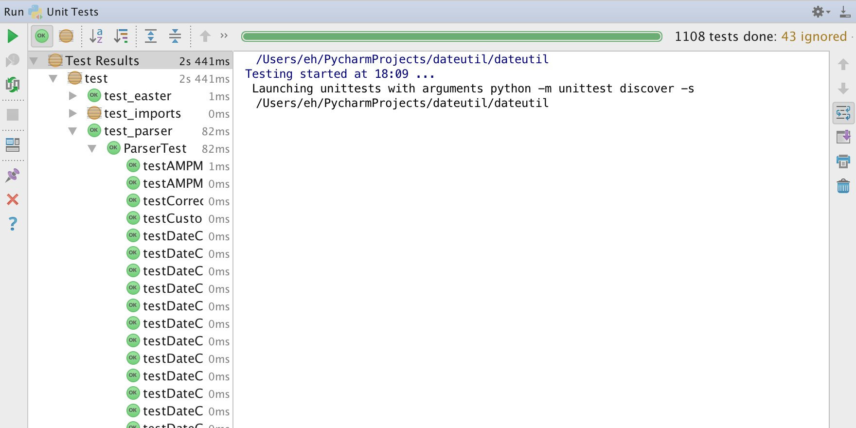 Pycharm Run Tests