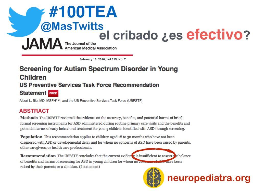 21 El cribado para el #autismo que se hace en primaria no es seguro que sea efectivo. #100TEA https://t.co/iyhgYzOxjy https://t.co/tEEmshF0wP