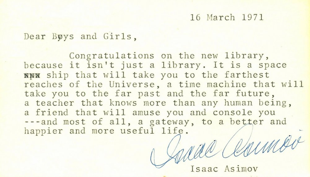 Isaac Asimov died 25 years ago today. He was a good egg.