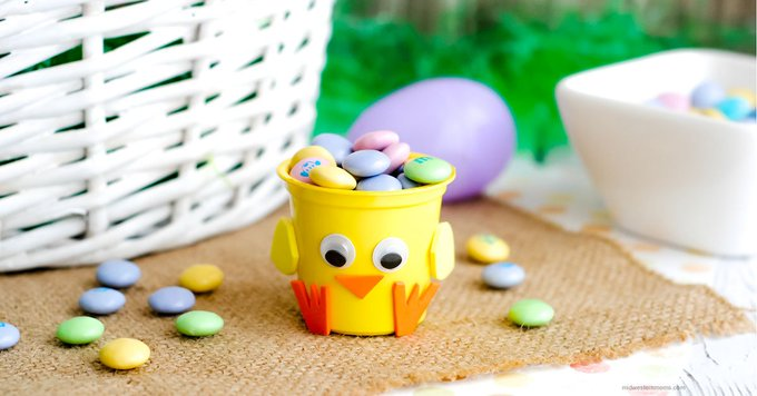 Easter Chick Craft: Upcycled K-Cup Craft