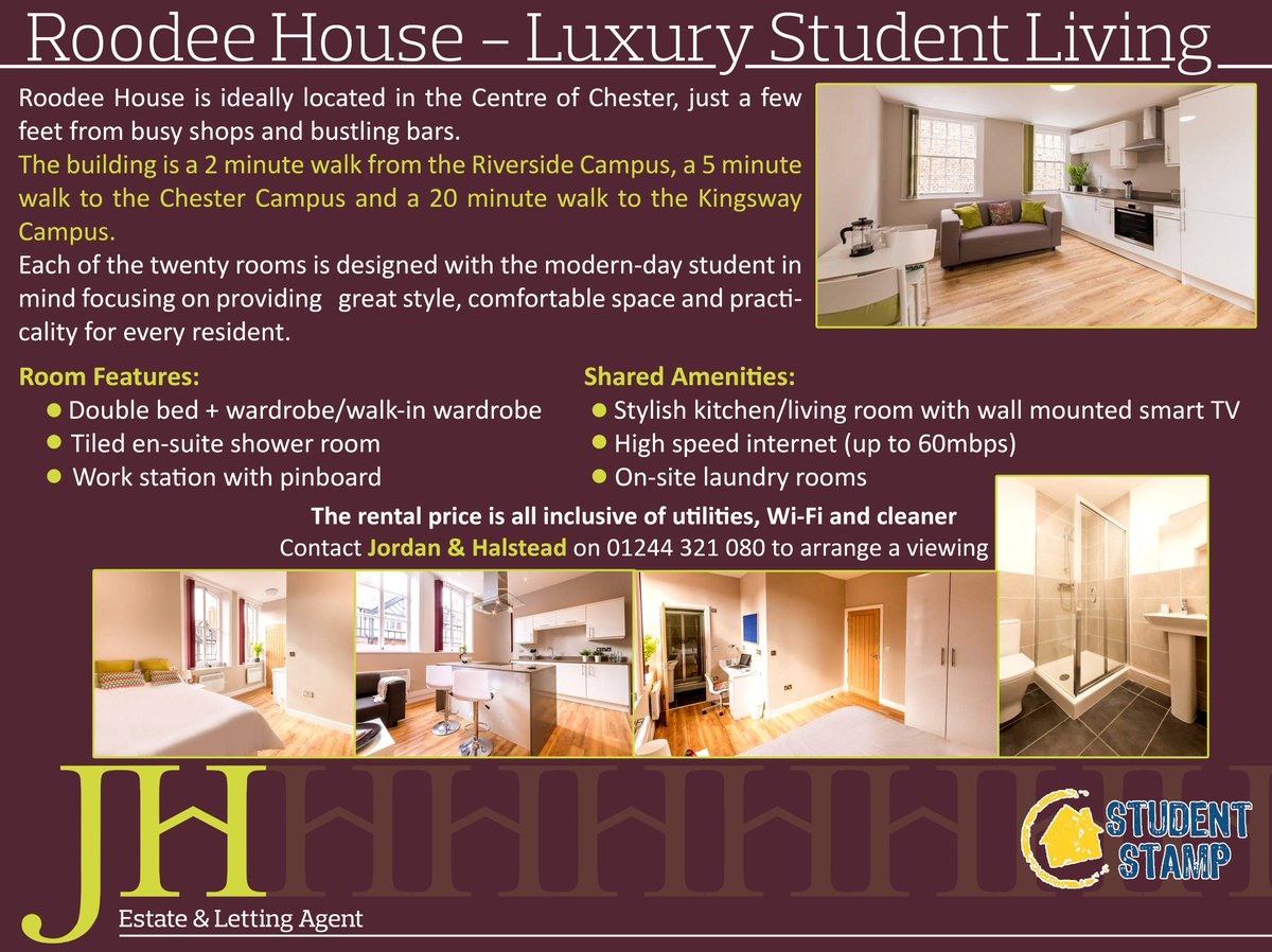 Looking for luxury studentaccomodation in Chester Roodee