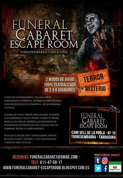 Funeral Cabaret On Twitter Y No Olvideis Que La Escape Room No