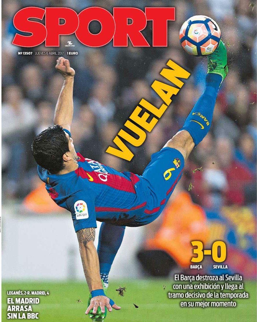 Portada magnètica del diari @sport @ErnestFolch https://t.co/dQURSUGbLO
