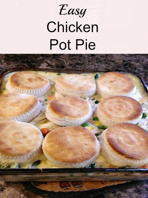 Easy Chicken Pot Pie #recipe