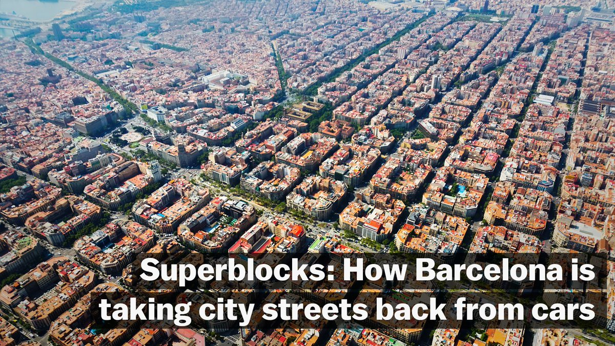 How Barcelona's smarter city grid is taking streets back from cars and returning them to pedestrians: