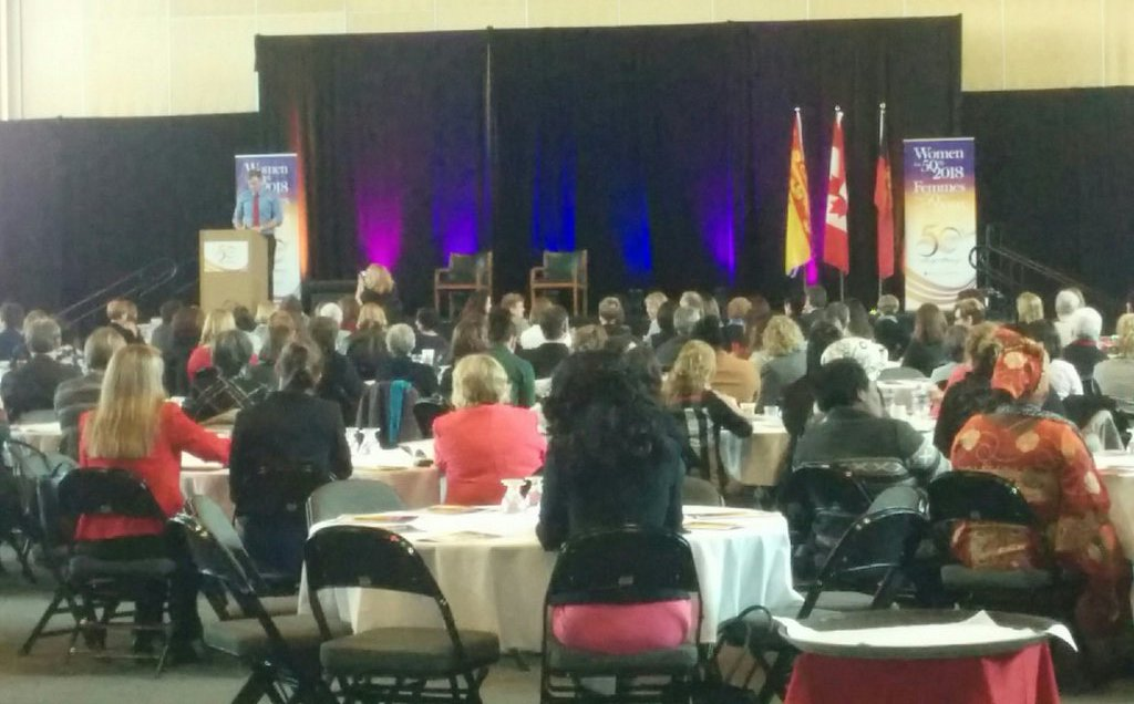 .@BrianGallantNB welcoming the 350 participants at #Women2018femmes. Looooook at this room! 💪 https://t.co/7Z2YBhG1lF