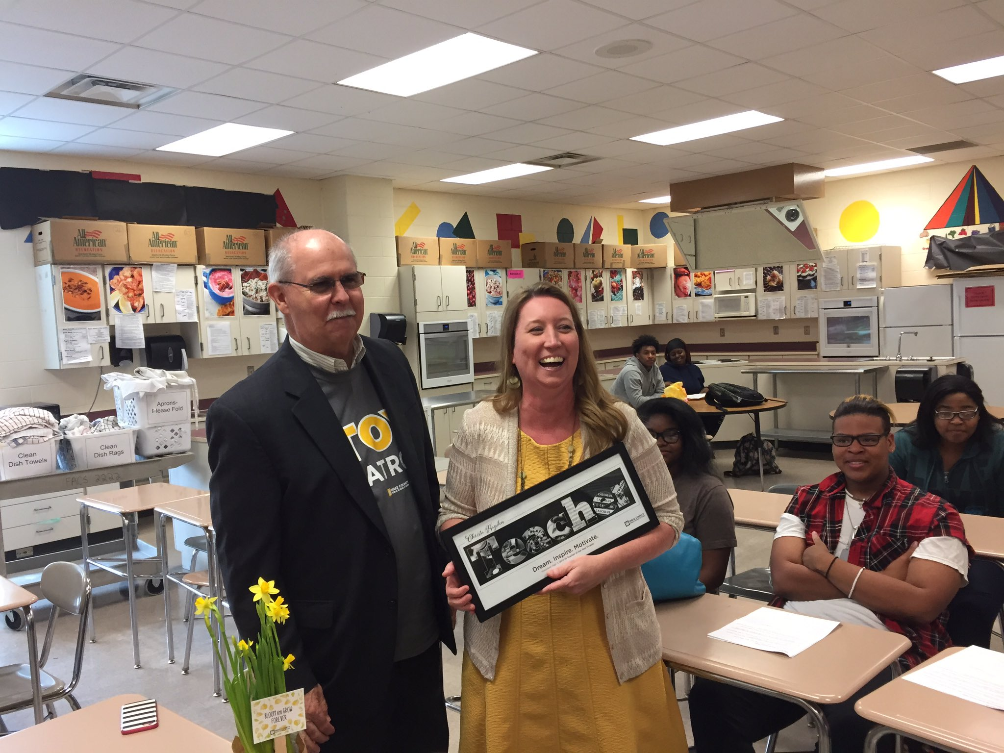 Yay for Christa Hayden from @WakefieldHS! She is a Family & Consumer Science teacher and our 6th @WCPSS Teacher of the Year finalist! https://t.co/BTu7u5LcHQ