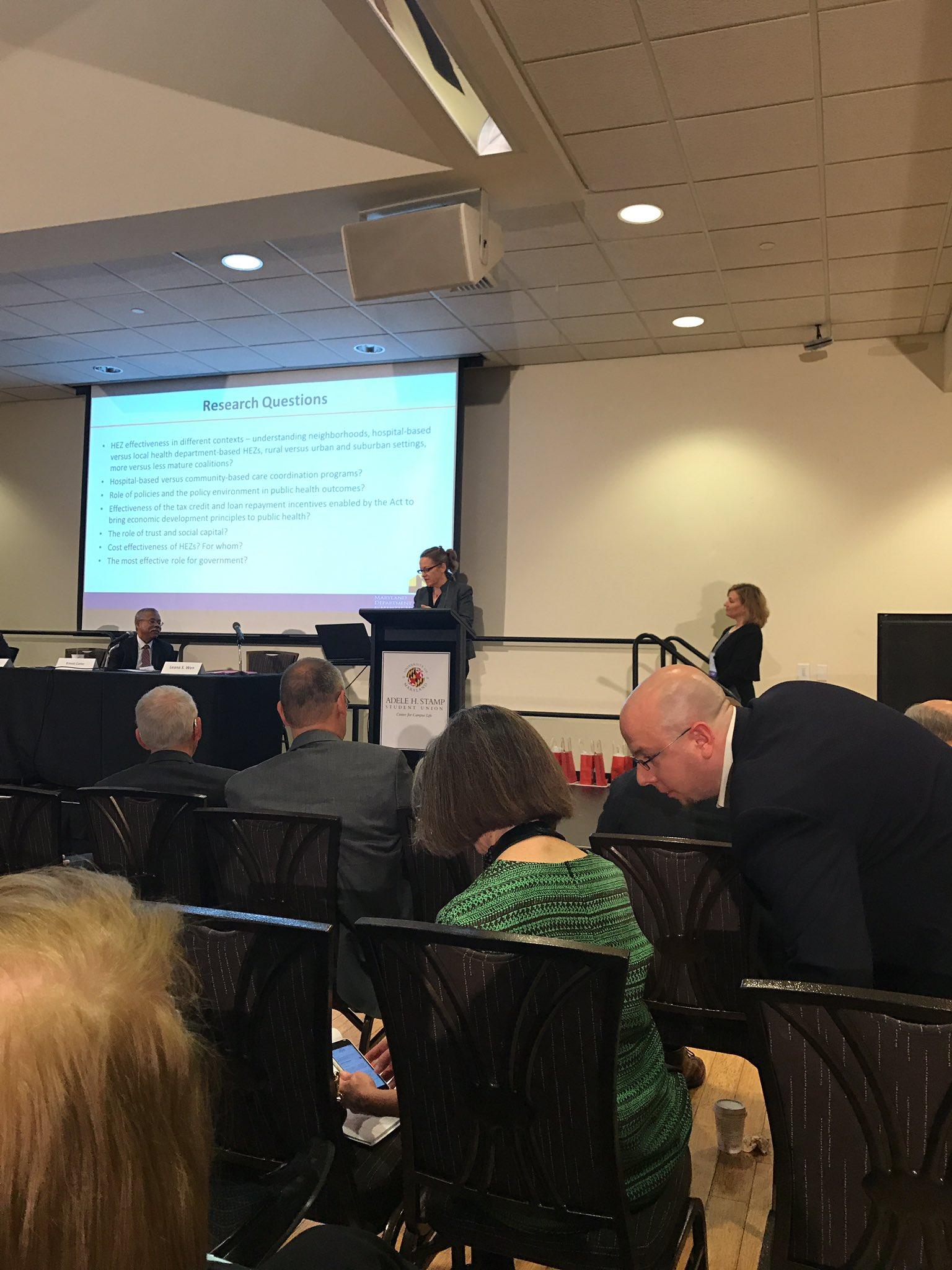 Maura Dwyer talks about Health Enterprise Zones, #publichealthMD #nphw https://t.co/YEx95RB5qq