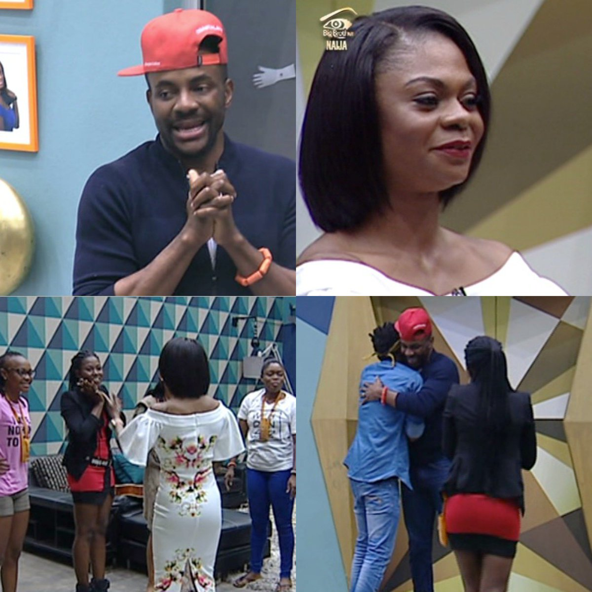 #BBNaija: Ex-BB Winner, Karen Igho Rakos and BB Host, Ebuka visit the top 5 finalists in the house [photos]