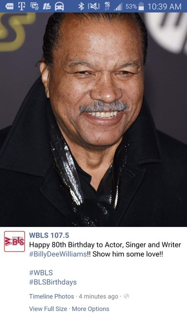 Happy 80th Birthday to mack of all macks Billy Dee Williams.Only a New Yorker could have swag like you.