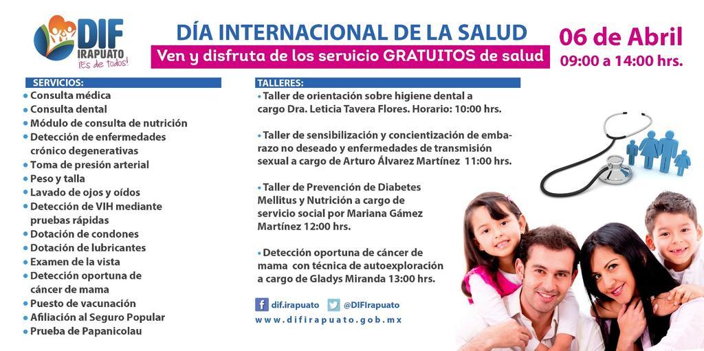 Dif Irapuato On Twitter Feriadesalud En Nuestro Centro