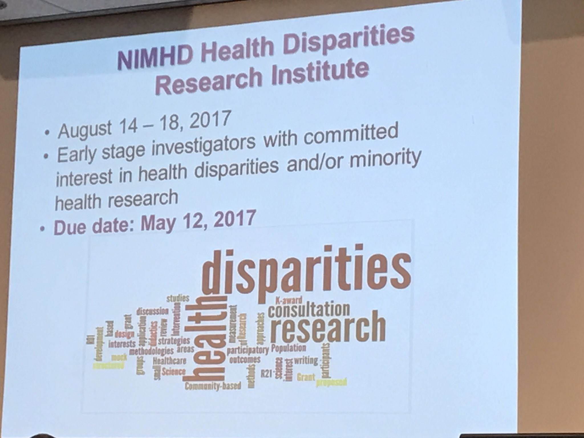 Applications now being accepted for @NIMHD summer research institution. #publichealthMD #nphw https://t.co/nOuvPsKpxN