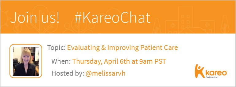 Welcome to #KareoChat with host @melissarvh! https://t.co/dZT447hM3t What will it take to improve #PatientCare? Let's find out from you! https://t.co/zfUkO0Fgu1