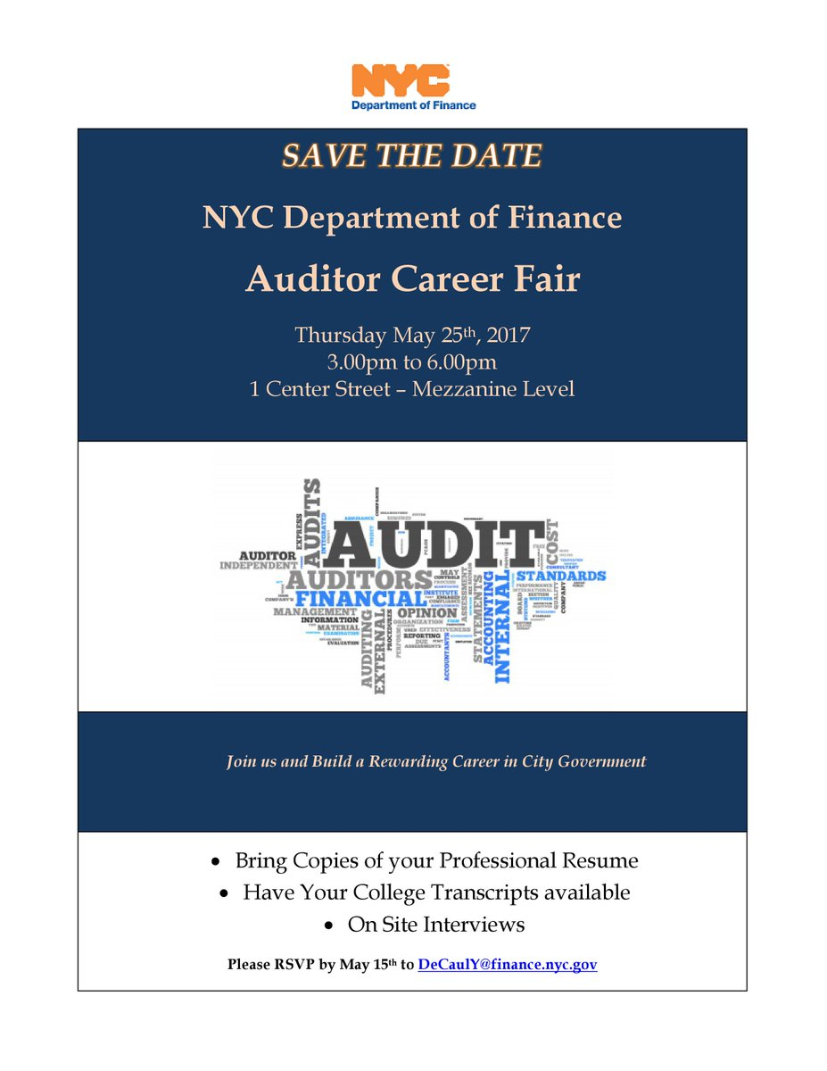 john jay career ctr johnjaycareers twitter nycfinance is having a career fair jjcstudents if you re interested in a career as an auditor you re not going to want to miss this pic com