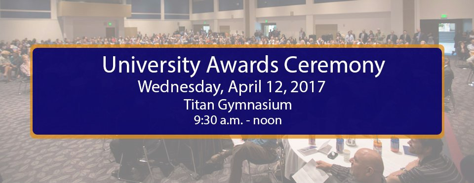Thumbnail for CSUF University Awards Program
