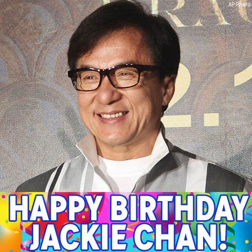 Happy 63rd birthday to movie icon Jackie Chan!