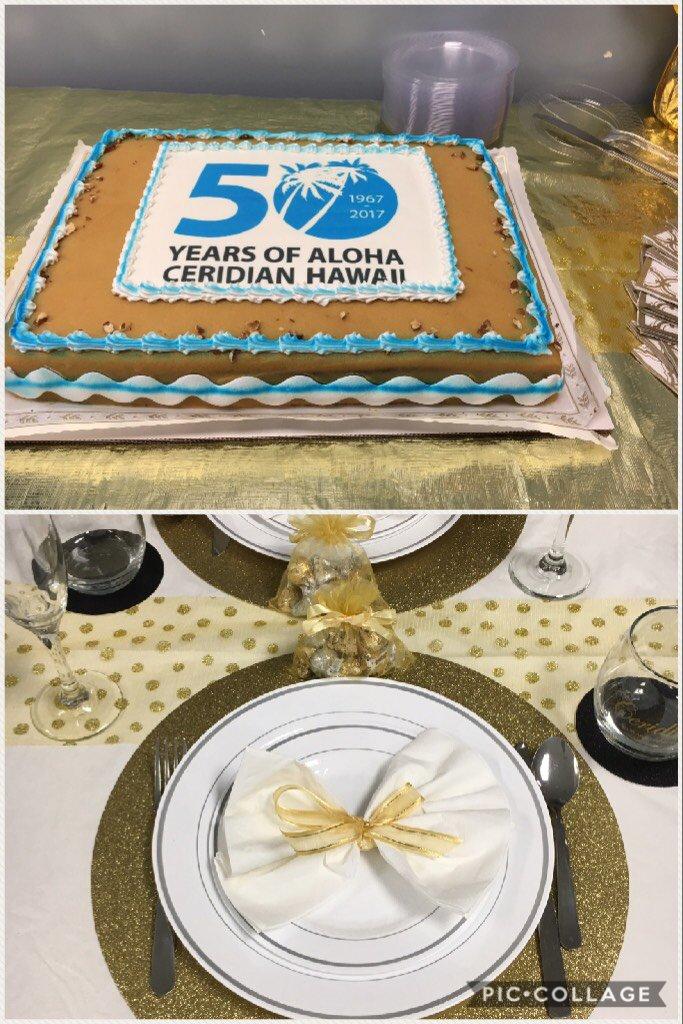 #ceridianhawaii50 yummy cake and beautiful setting  https://t.co/VQTzGRcufF https://t.co/jePOZuaI3h