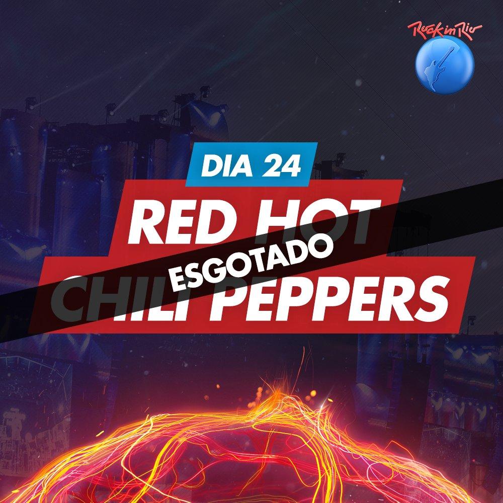 WOW! Agora já esgotaram os ingressos para o Red Hot @ChiliPeppers. É correr pra garantir um lugar nos outros 5 dias https://t.co/XqaRbpTrrC