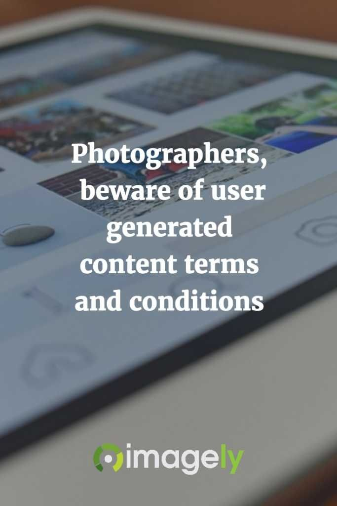 New Post: Photographers, beware of user generated content terms and conditions https://t.co/52zYLoi2f6 https://t.co/mkqzxo19rz
