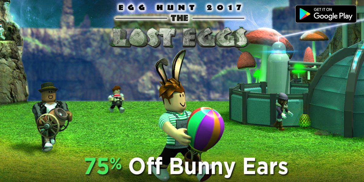 Roblox On Twitter Get The Exclusive Bunny Ears For 75 Off Only R