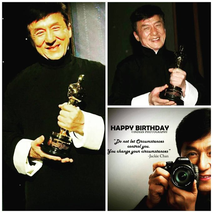 Wishing you a very happy birthday to legendry Actor Jackie Chan sir......