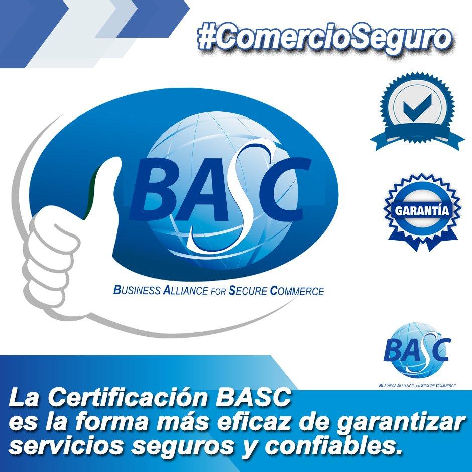"""BASC Guayaquil on Twitter: """"#ComercioSeguro La Certificación BASC es la forma más eficaz de garantizar servicios seguros y confiables.… """""""