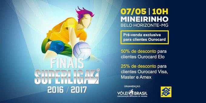 De 7 a 10/4 tem pré-venda de ingressos da Superliga Masculina. Aproveite q/ vc é cliente Ourocard e garanta os seus: https://t.co/vAtpAhfZMP