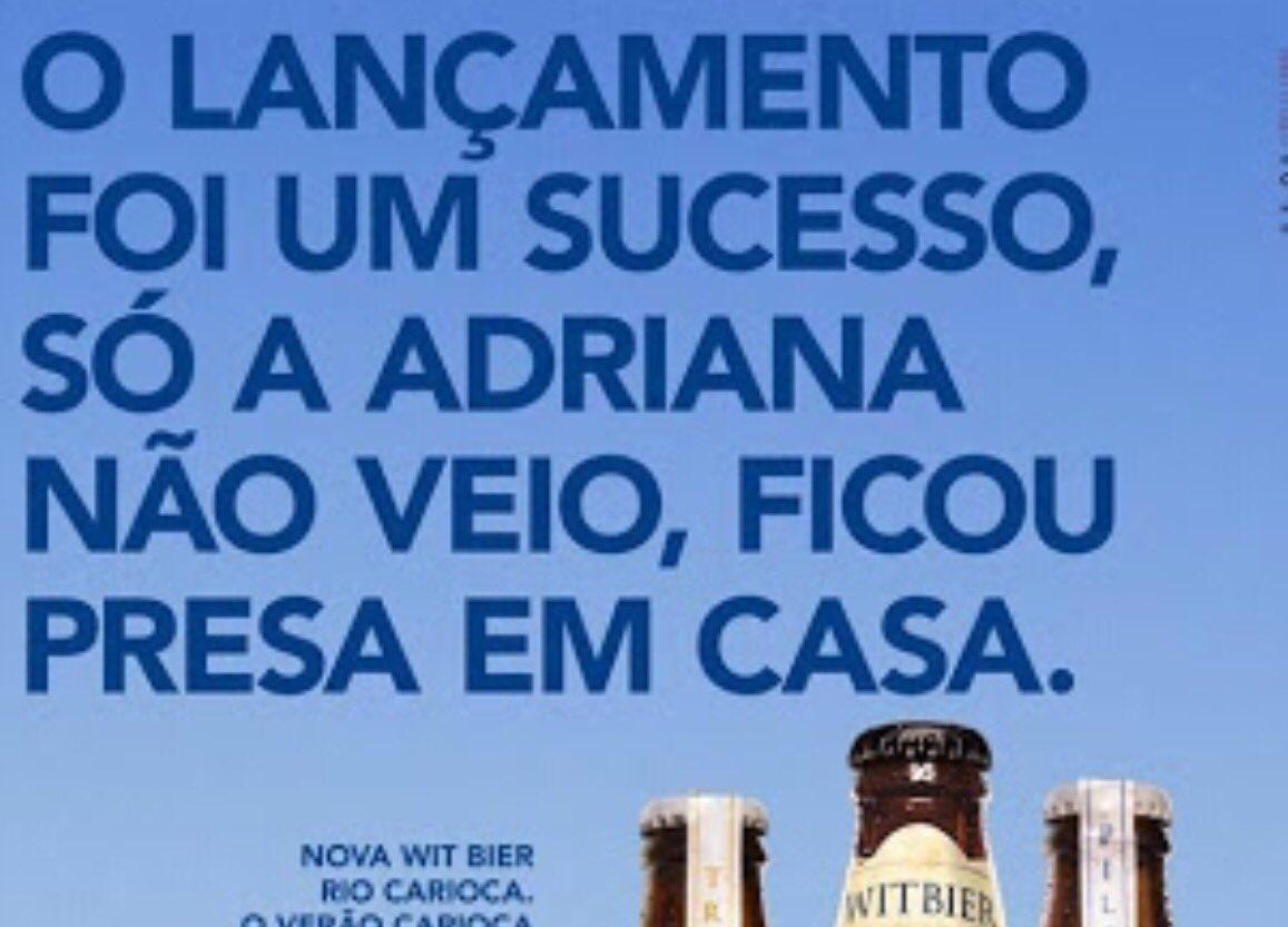 Comercial da Cerveja Rio Carioca escracha Adriana Ancelmo!