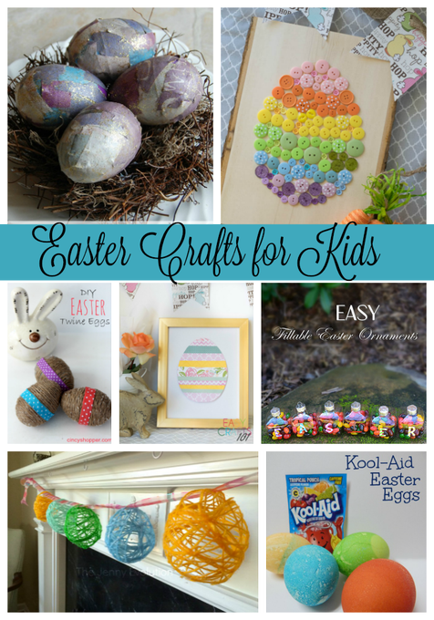 Easter Crafts for Kids via Pinterest