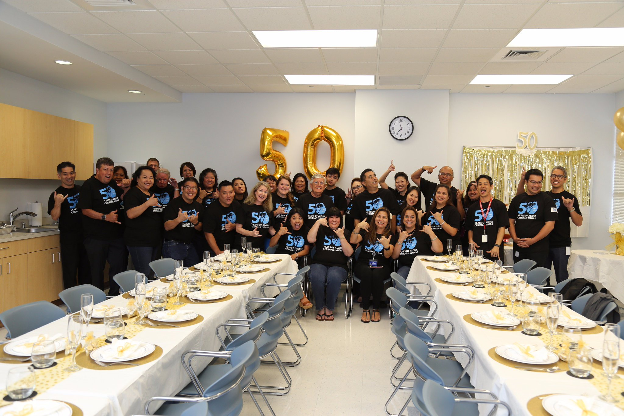 Ceridian Hawaii 'ohana celebrating our 50th anniversary! Here's to 50 more! #ceridianhawaii50 https://t.co/DAUGlBjuHF