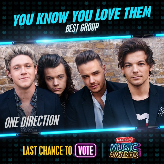 RT to vote for #OneDirection for #YouKnowYouLoveThem! #RDMA @radiodisney @onedirection