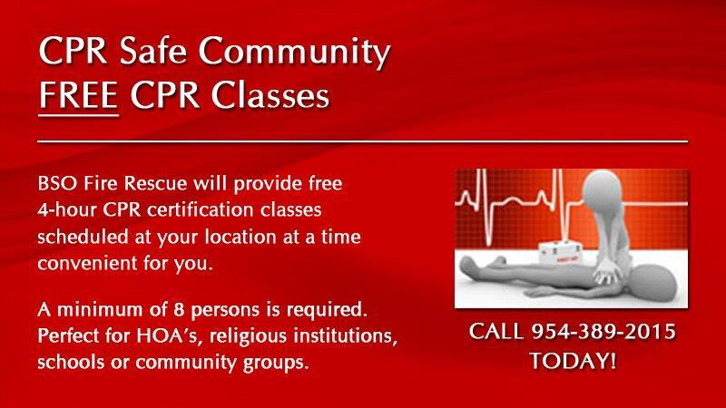 City Of Weston On Twitter Free Cpr Classes Provided By Bso Fire
