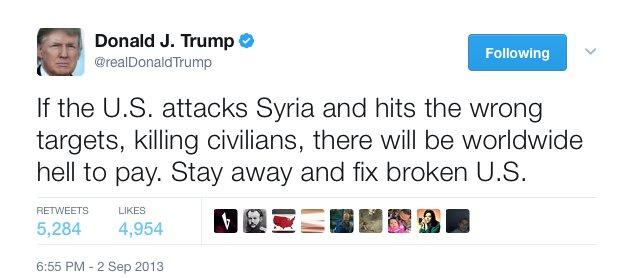 Image result for trump tweets syria
