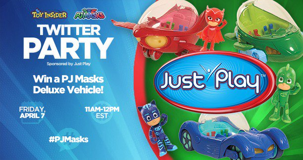 Don't forget: #PJMasks #TwitterParty with @TheToyInsider tomorrow, 4/7 at 11amET! RSVP NOW: ://