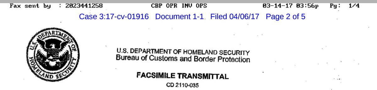 matt blaze on twitter fax header on the cbp twitter subpoena cbp