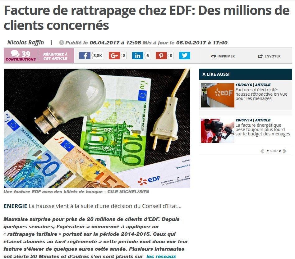 #Libération #LeFigaro #LeMonde #LHumanité #LesEchos #NouvelObs #GoogleActualite #DirectMatin #LeParisien #Europe1 EDF FAIT UN HOLD-UP<br>http://pic.twitter.com/QHWjVm1hww