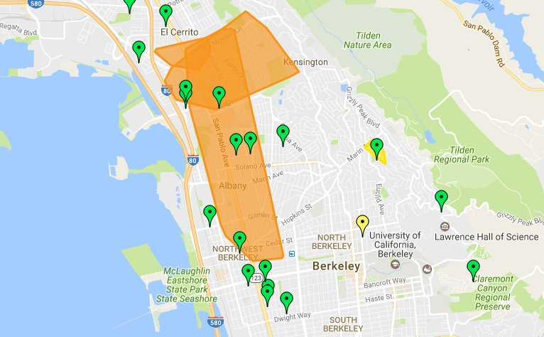 Berkeley Power Outage Map.Berkeleyside On Twitter Outage Map For Pge4me Lists 15 Outages