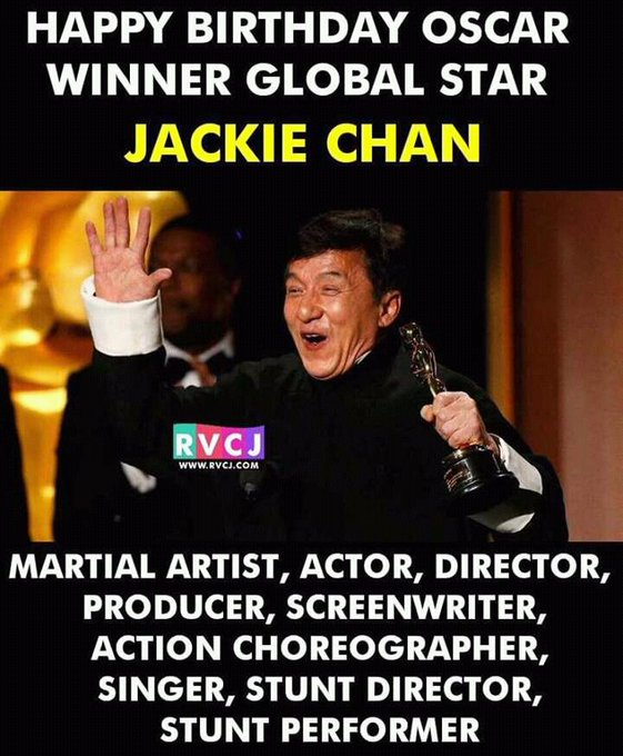 Happy Birthday To Sir jackie chan My Inspiration from Childhood... My One Of the Super hero