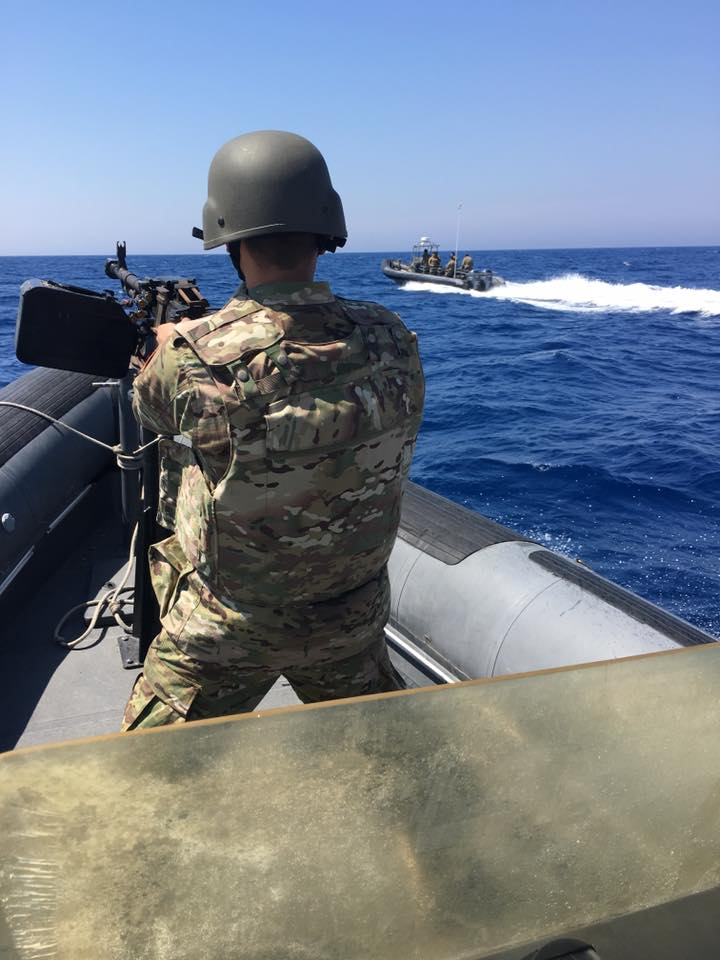 Libya- Coast Guard conducting counter-smuggling operations offshore of Tripoli
